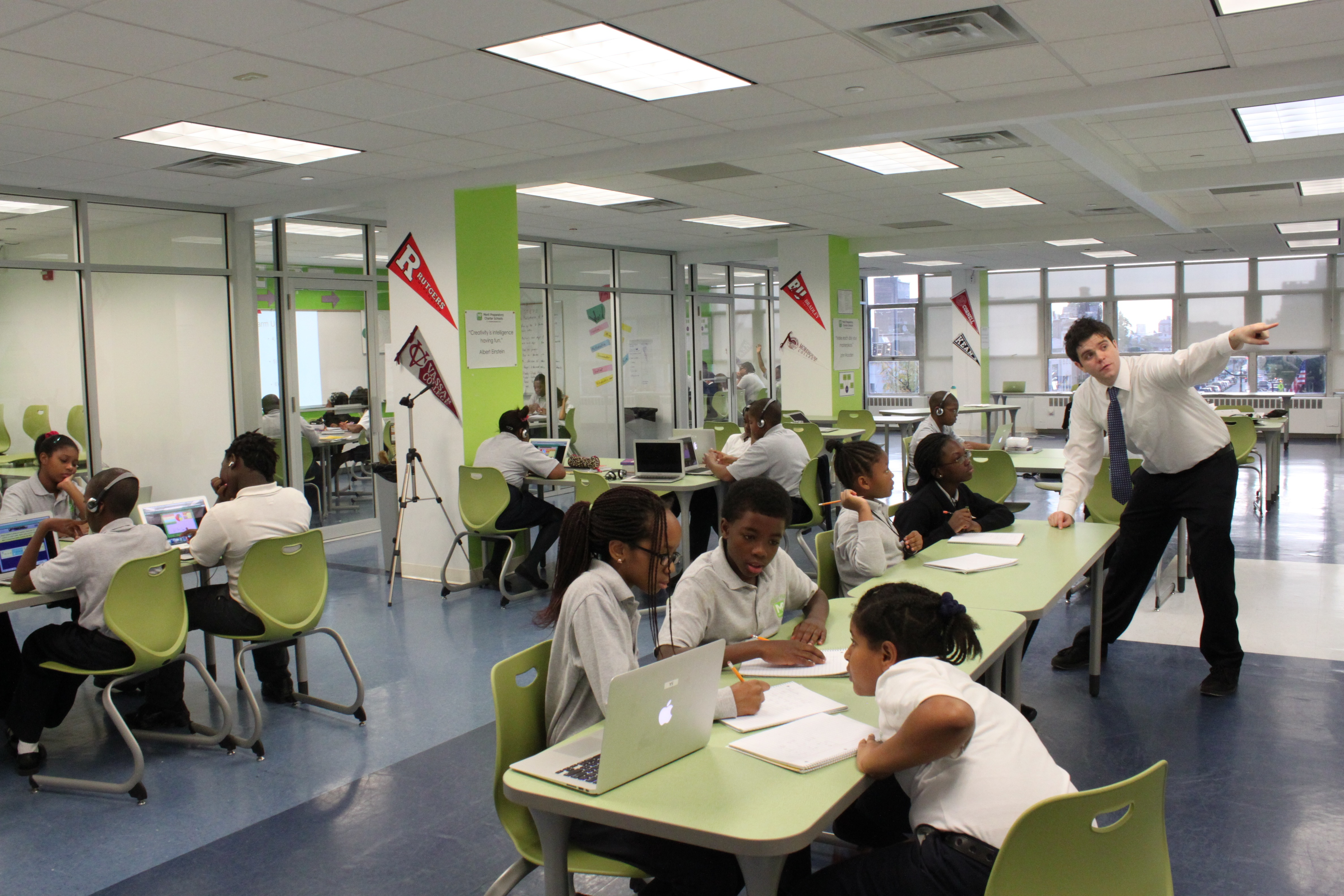 Visting Touchstone Education's Merit Prep Charter School in Newark, NJ